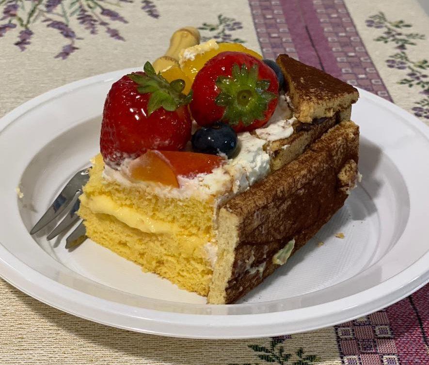 """fetta di torta """"cassetta di frutta"""""""